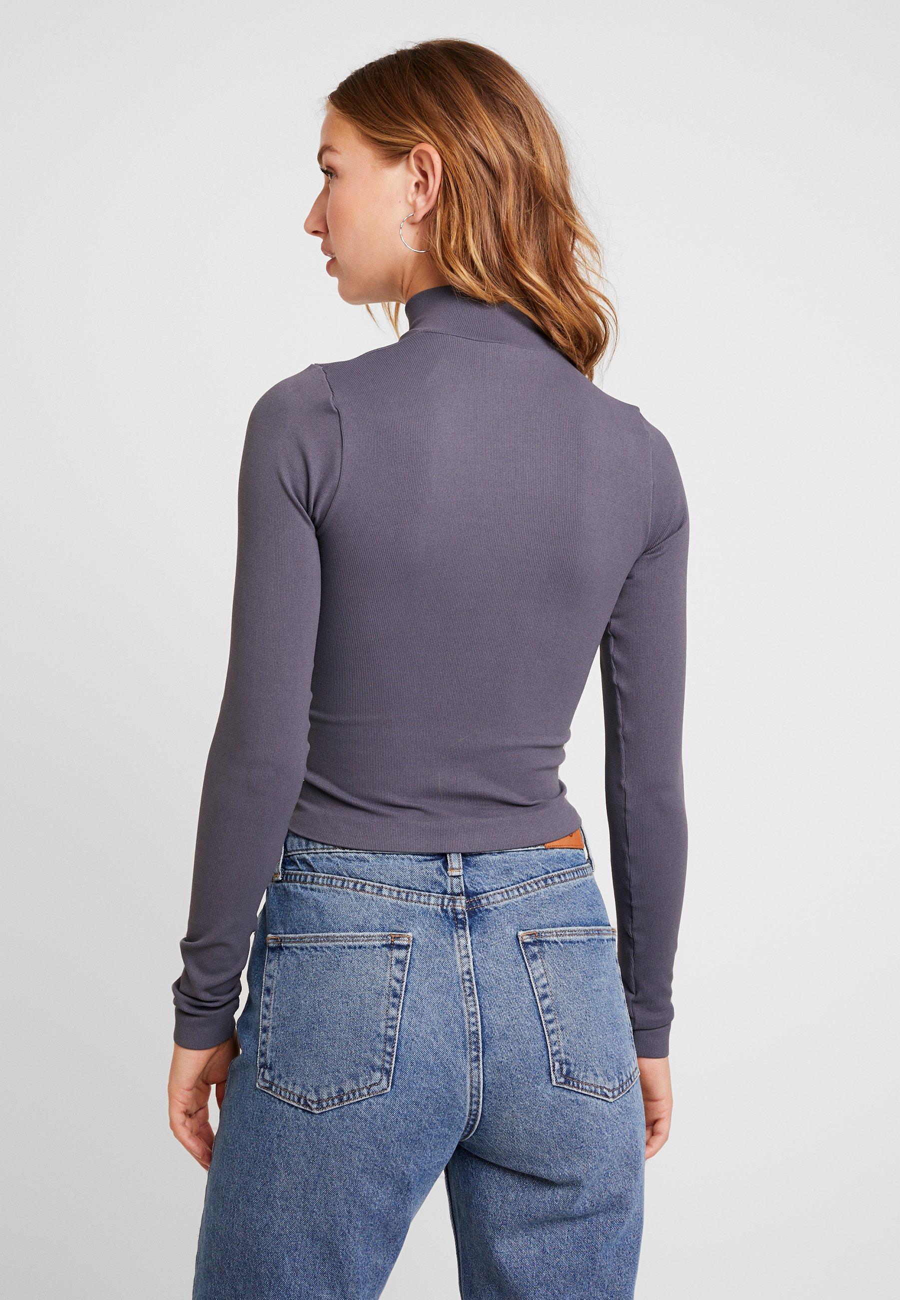 FunnelT Zip Bdg Shadow Urban Outfitters shirt Longues Dark Manches À qUzpSGjLVM