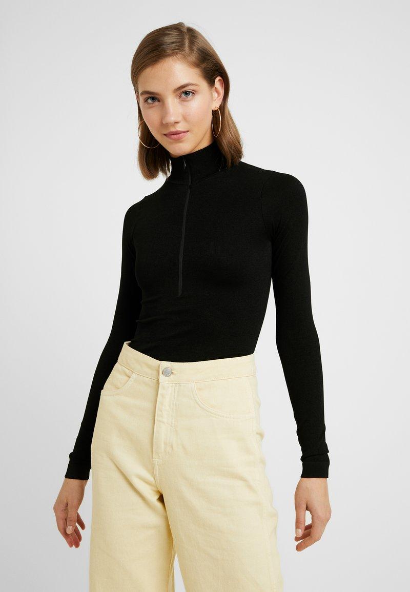 BDG Urban Outfitters - ZIP FUNNEL - Long sleeved top - black