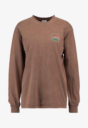 SKATE GRAPHIC TEE - Long sleeved top - brown