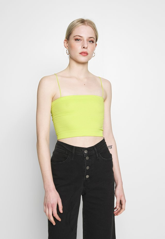 BUNGEE STRAP TUBE TOP - Toppe - lime