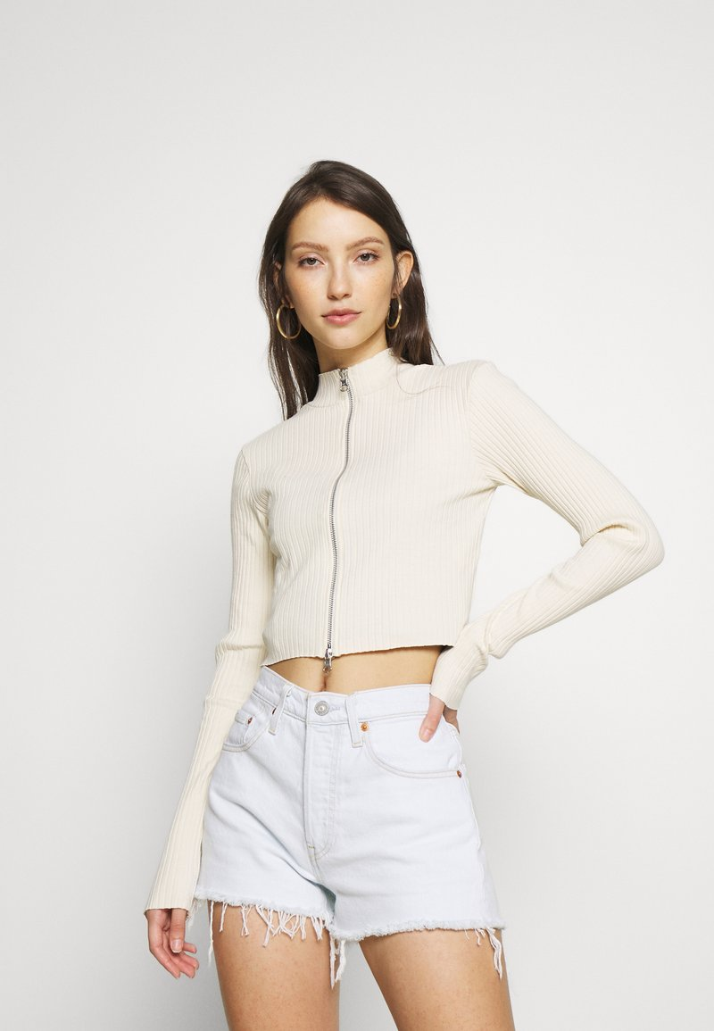 BDG Urban Outfitters - DOUBLE ZIP THROUGH - Cardigan - ecru