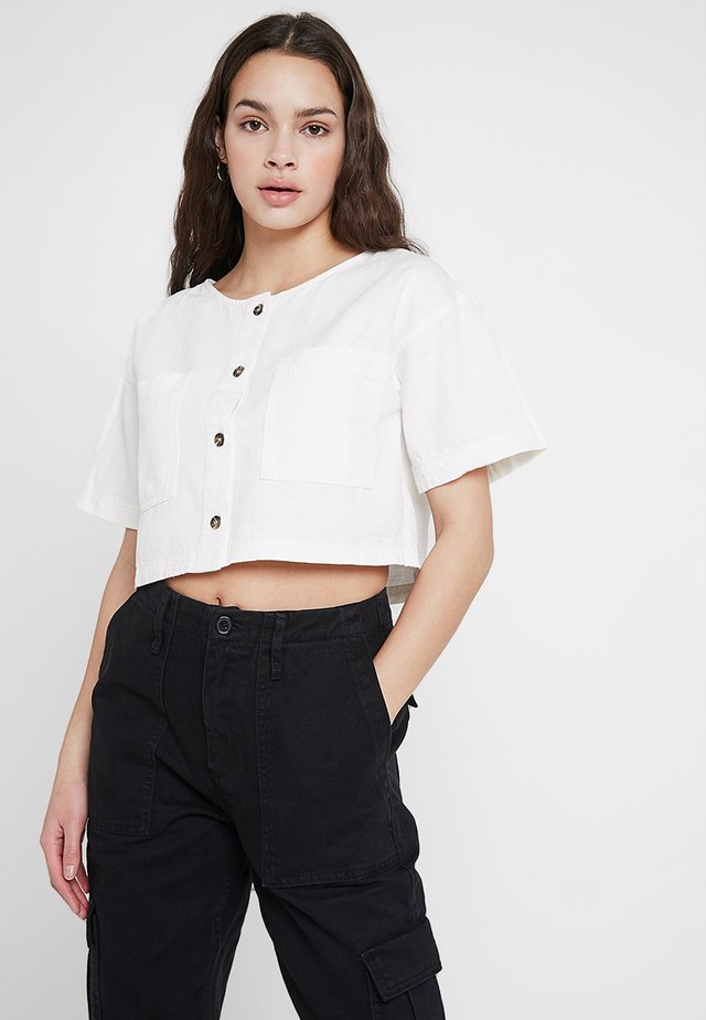 LEO CROP - Blouse - ivory