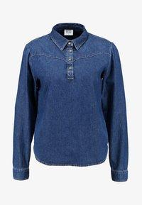BDG Urban Outfitters - DRIVER WESTERN - Overhemdblouse - rinsed denim - 4