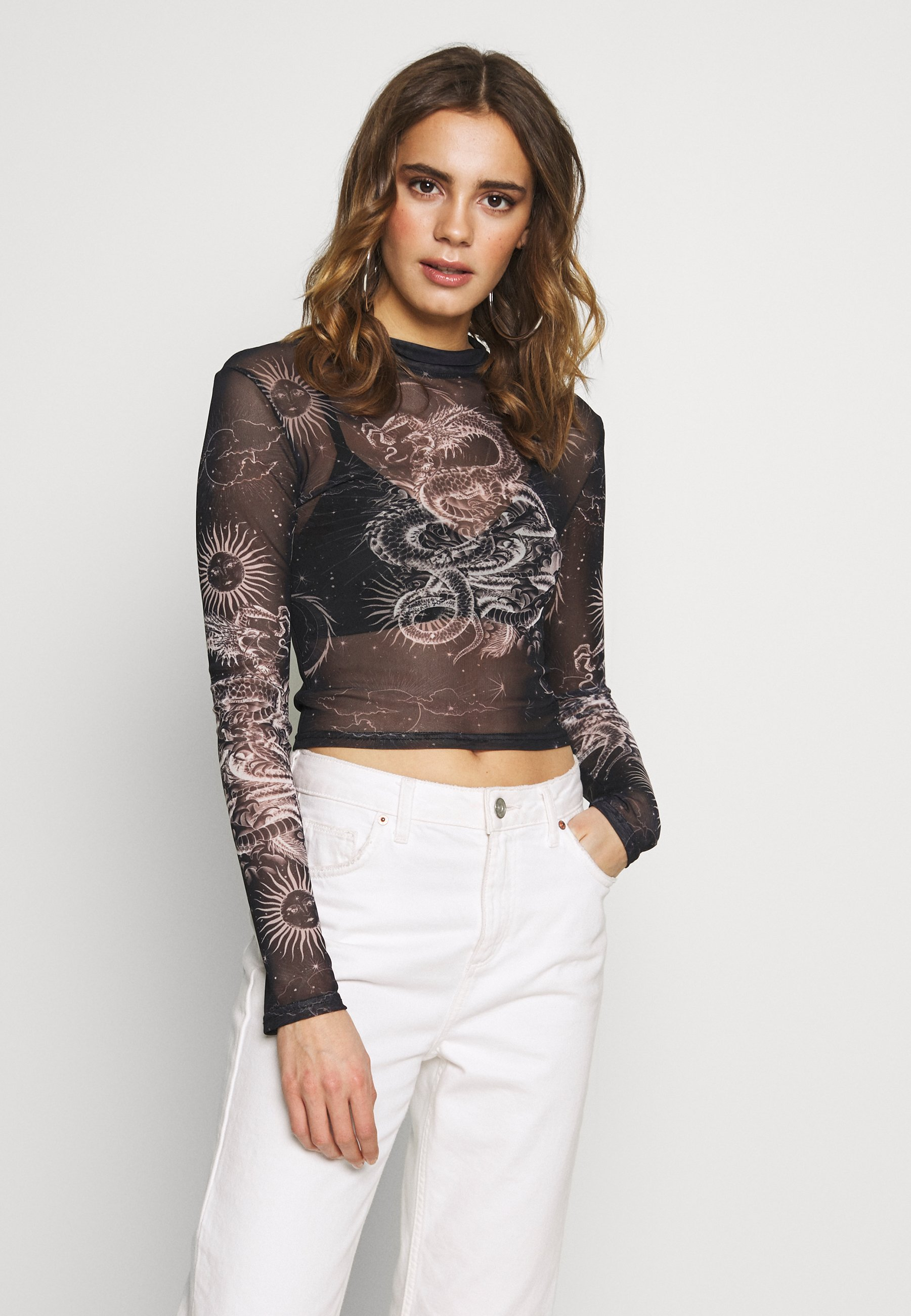 BDG Urban Outfitters FUNNEL - Bluzka z długim rękawem - black