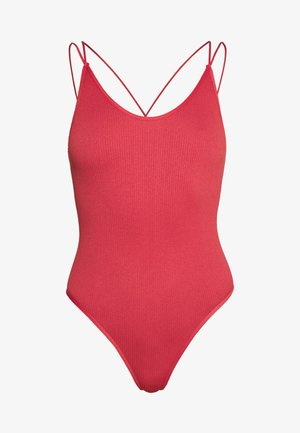 THONG STRAPPY BACK BODYSUIT - Top - mineral red