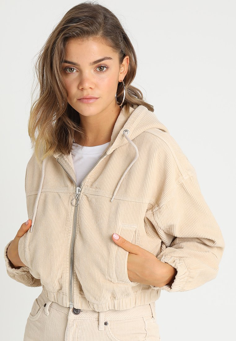 BDG Urban Outfitters - HOODED JACKET - Leichte Jacke - ivory