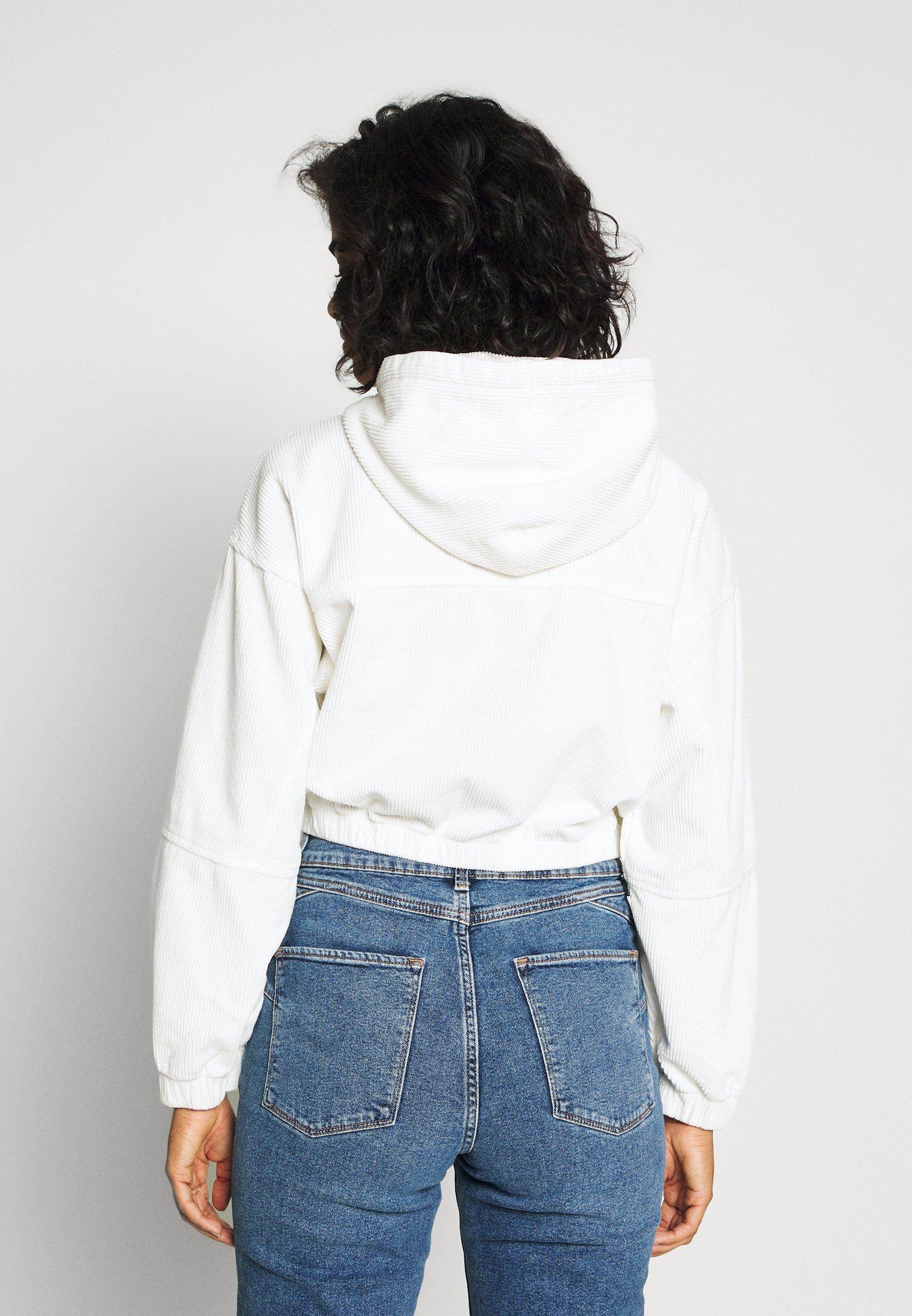 BDG Urban Outfitters HOODED JACKET - Kurtka Bomber - warm white