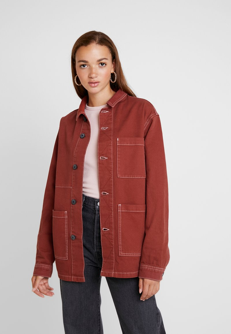 BDG Urban Outfitters - LONGLINE JACKET - Short coat - brick