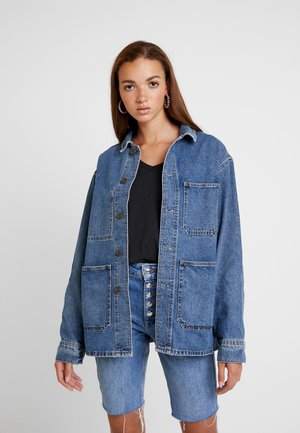 LONGLINE JACKET - Jeansjacke - dark denim