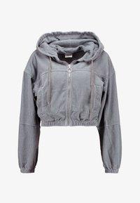 BDG Urban Outfitters - HOODED CROP - Kurtka wiosenna - grey - 4