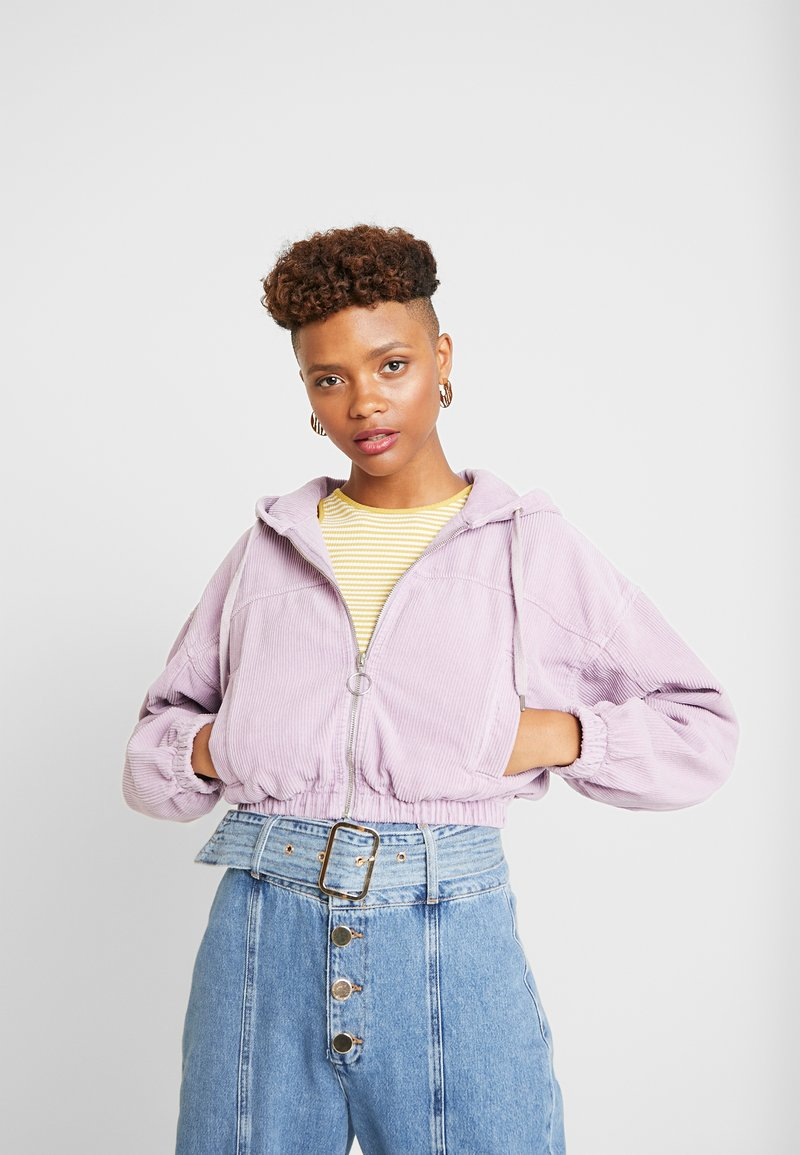 BDG Urban Outfitters - HOODED CROP - Leichte Jacke - lilac