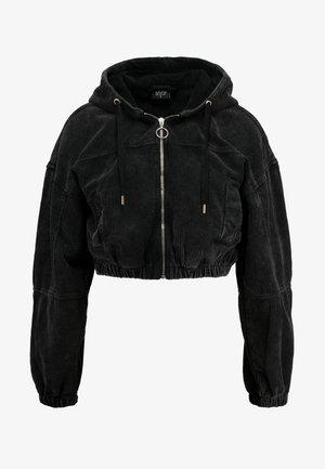 HOODED CROP - Summer jacket - acid wash