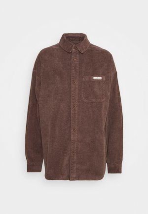 JUMBO SHACKET - Summer jacket - brown