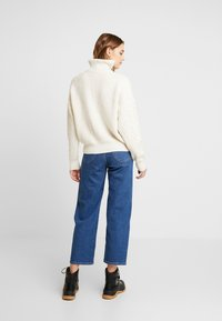 BDG Urban Outfitters - CABLE ZIP - Jumper - ecru - 2