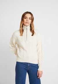 BDG Urban Outfitters - CABLE ZIP - Jumper - ecru - 0