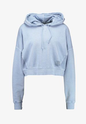 CROPPED SLOUCHY HOODIE - Bluza z kapturem - dusty blue