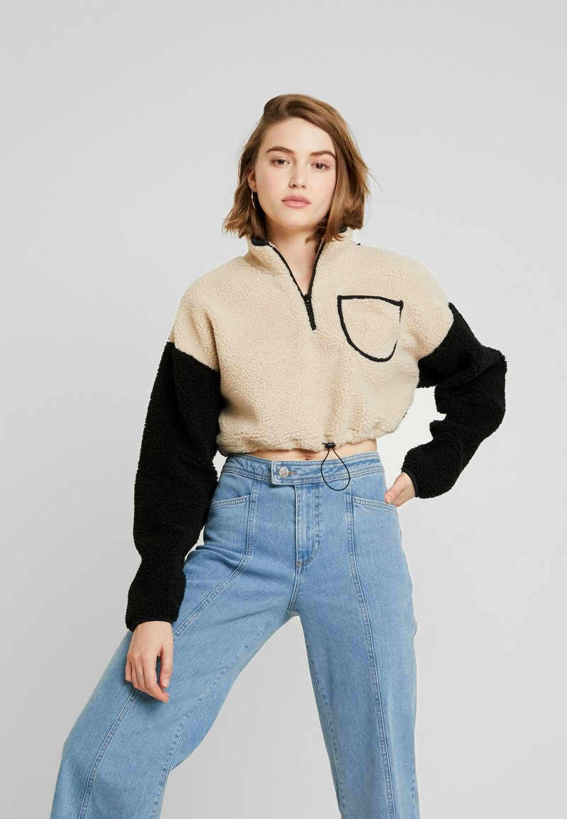 BDG Urban Outfitters - CROPPED TEDDY TRACK - Sweatshirt - cream