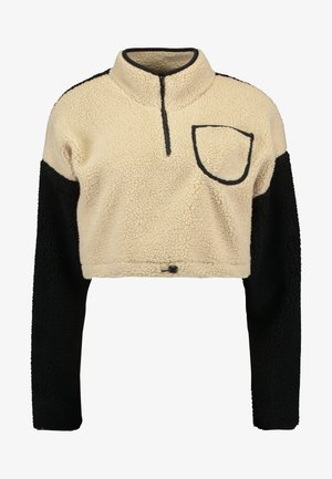 CROPPED TEDDY TRACK - Sweatshirt - cream