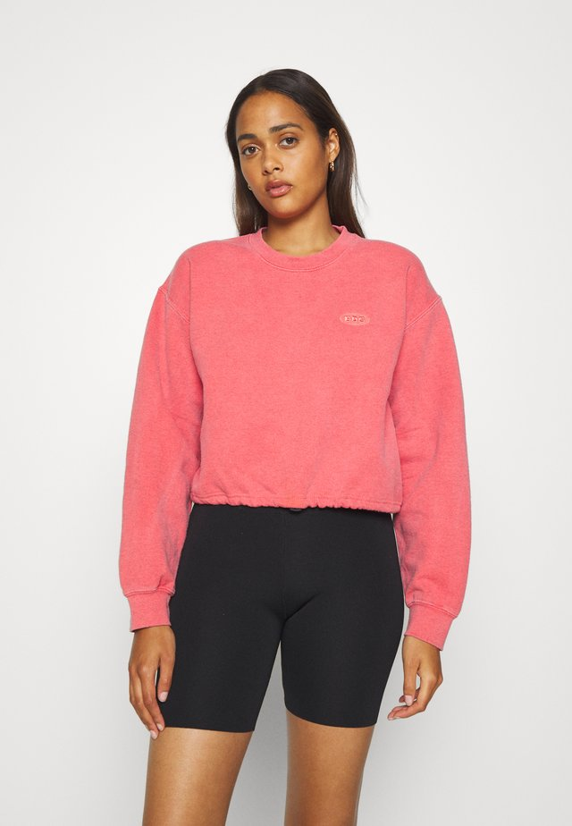 BUBBLE HEM  - Sweatshirt - washed red