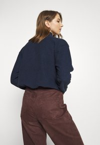 BDG Urban Outfitters - TOWELING TRACK JACKET - Fleece trui - navy - 2
