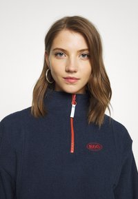 BDG Urban Outfitters - TOWELING TRACK JACKET - Fleece trui - navy - 5