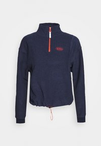 BDG Urban Outfitters - TOWELING TRACK JACKET - Fleece trui - navy - 4