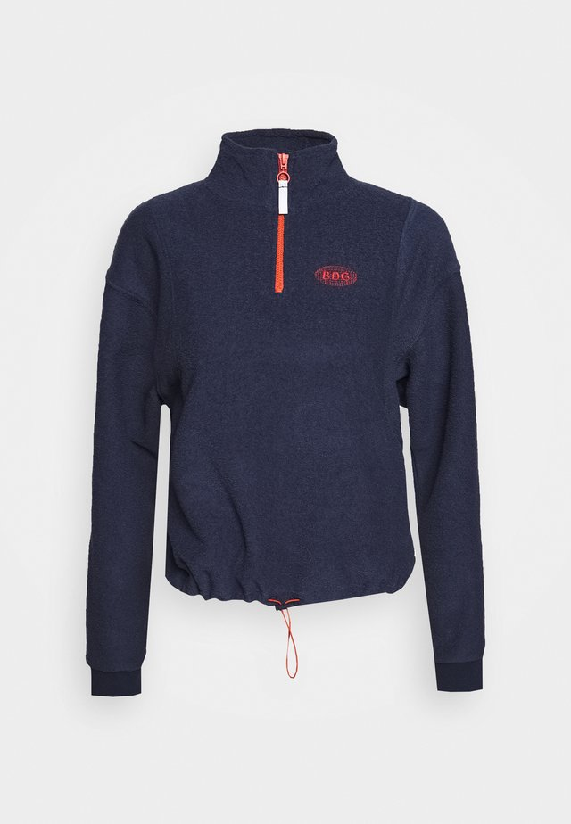 TOWELING TRACK JACKET - Sweatshirts - navy
