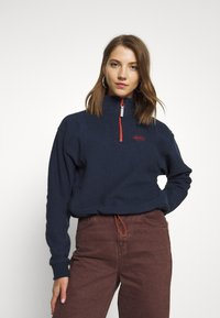 BDG Urban Outfitters - TOWELING TRACK JACKET - Fleece trui - navy - 0