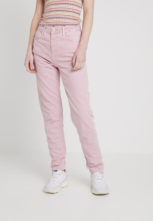 MOM - Jeansy Relaxed Fit - candy pink