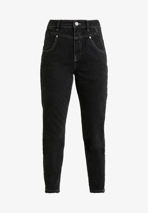SEAMED MOM - Jeans relaxed fit - black