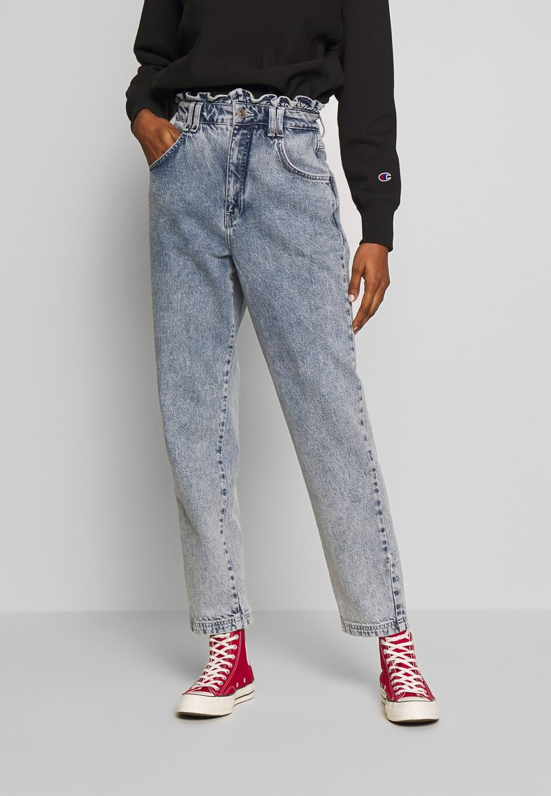 BDG Urban Outfitters - RUFFLE - Jeansy Relaxed Fit - acid blue