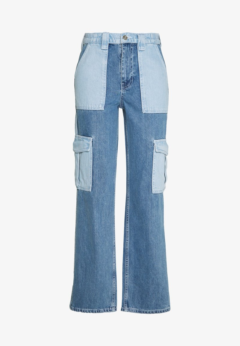BDG Urban Outfitters - SKATE PATCHWORK - Relaxed fit jeans - blue