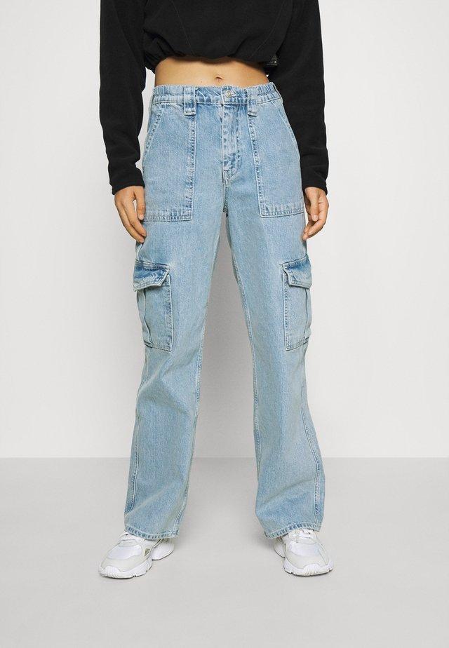 SKATE JEAN - Cargo trousers - bleach