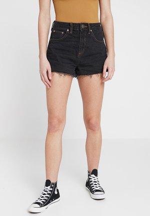 SHORT - Jeansshort - black