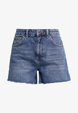MOM - Shorts di jeans - rinsed denim