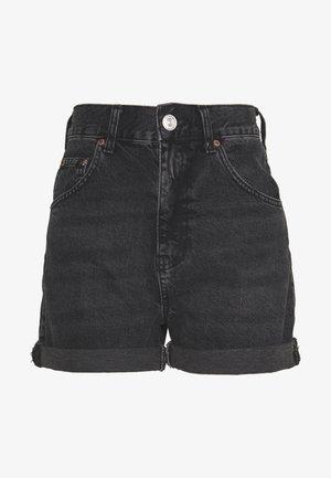 ROLLED HEM MOM SHORT - Shorts - washed black