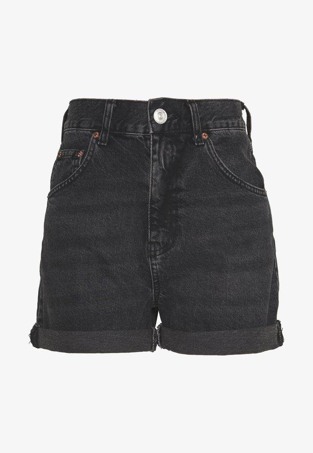 ROLLED HEM MOM SHORT - Short - washed black