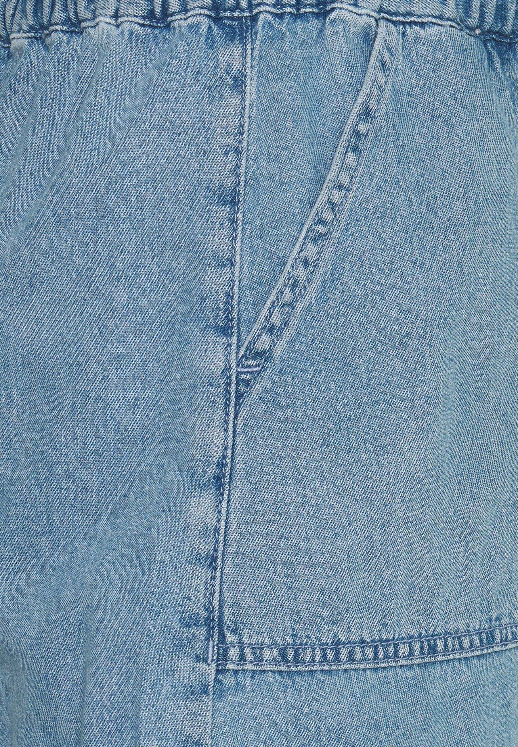 BDG Urban Outfitters HAZEL PAPER BAG WAIST - Szorty - blue