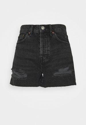 PAX - Denim shorts - black