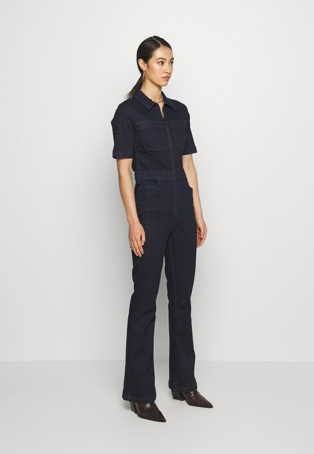 70S STRETCH FLARE BOILERSUIT - Kombinezon - indigo