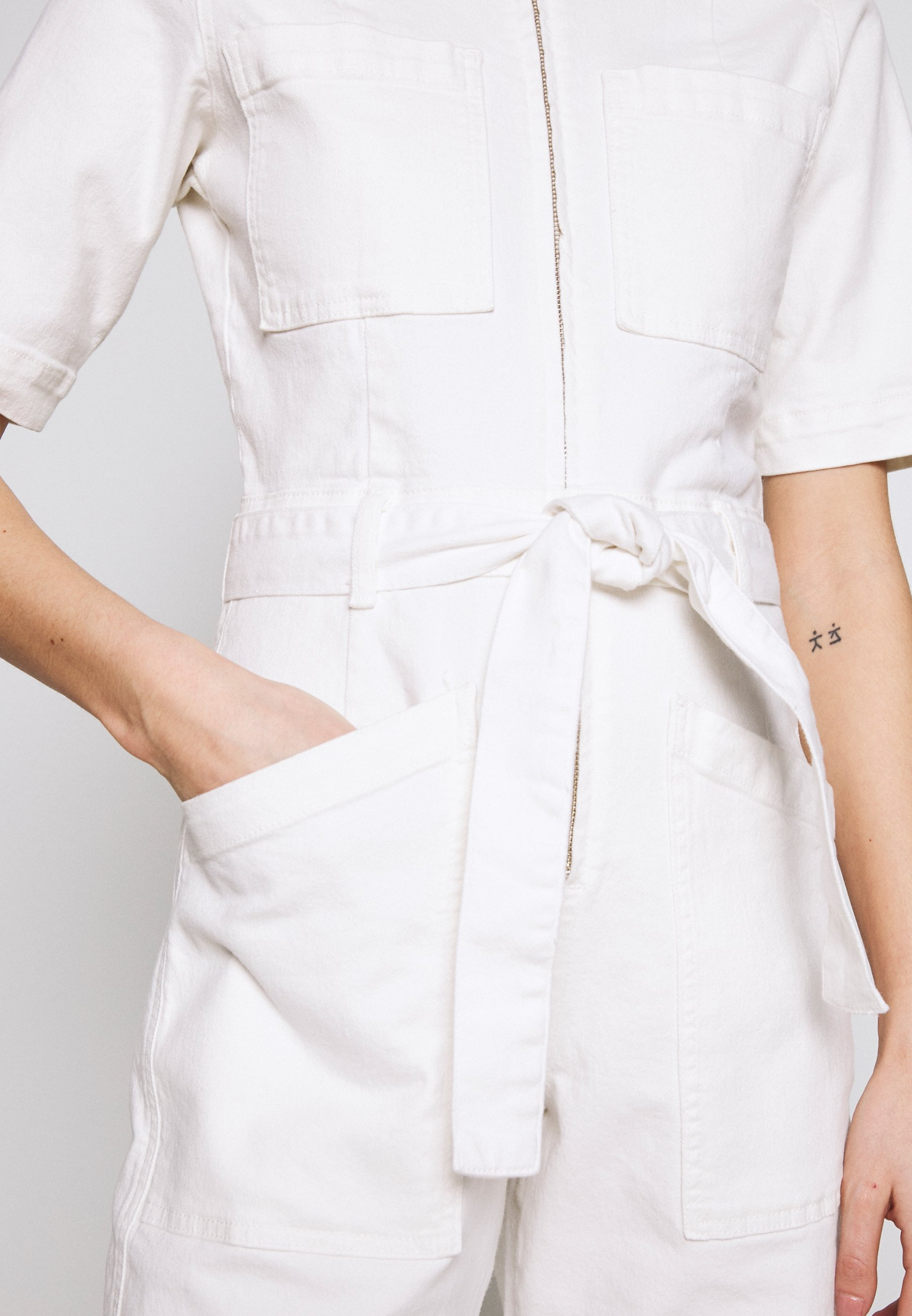Bdg Urban Outfitters Belted Boilersuit - Combinaison Stone