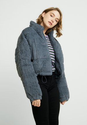 FLUFFY CORD PUFFER - Winterjas - charcoal