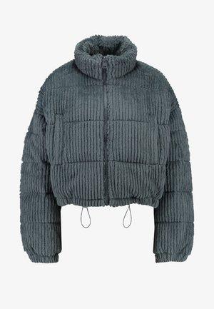FLUFFY CORD PUFFER - Vinterjakke - charcoal