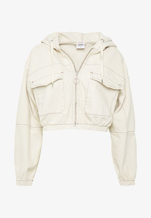 PATCH POCKET JACKET - Spijkerjas - ecru
