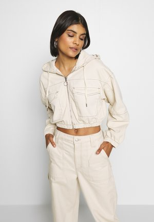 PATCH POCKET JACKET - Jeansjakke - ecru
