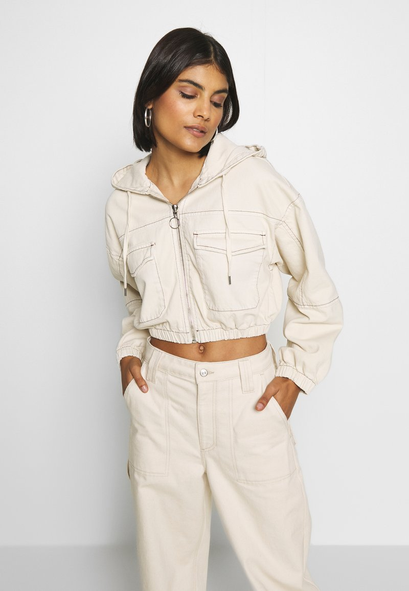 BDG Urban Outfitters - PATCH POCKET JACKET - Giacca di jeans - ecru