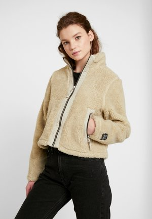 CONTRAST ZIP THRU JACKET - Light jacket - ivory