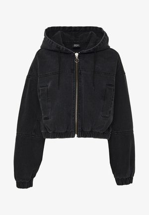 PATCH POCKET JACKET - Spijkerjas - wash black