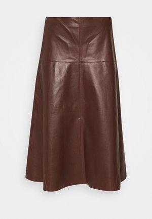 SKIRT - Áčková sukně - marone