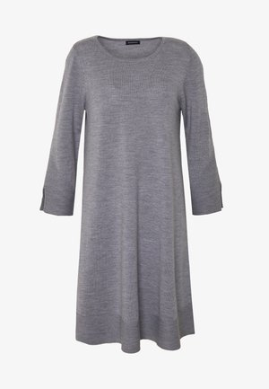 DRESS - Gebreide jurk - grey melange